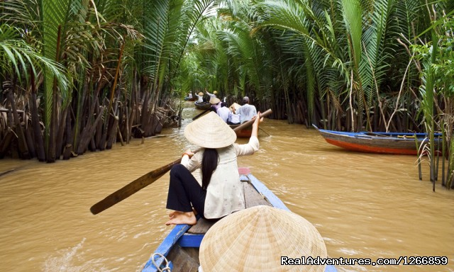 Boat On Mekong River Vietnam - Cycle Of Life: Explore The Mekong By Bike