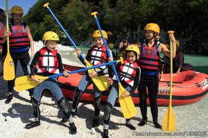 Rafting on the emerald Soca river, in Slovenia Bovec, Slovenia Rafting Trips