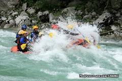 Rafting on the emerald Soca river, in Slovenia: Rafting on the Soca river