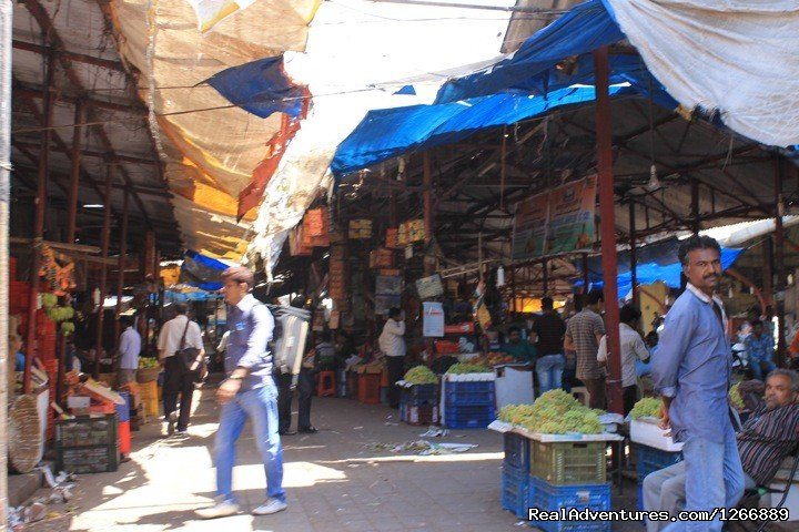 Local market inner view