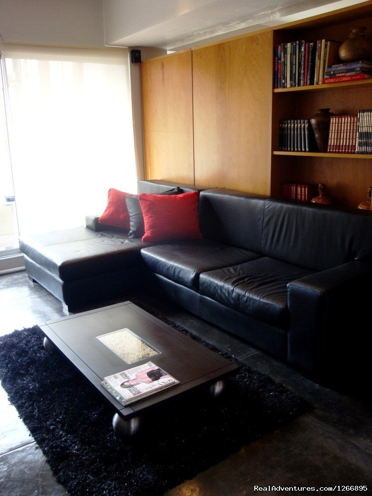 Living room | Image #4/8 | Modern Furnished Apartment In Zona Rosa Bogota