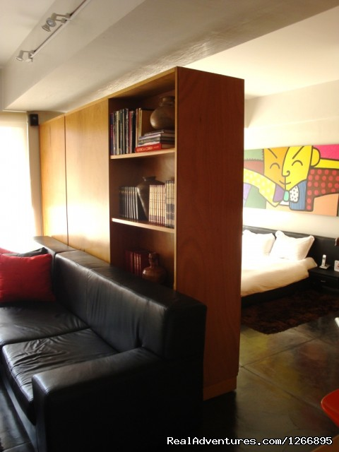 Modern Furnished Apartment In Zona Rosa Bogota View bedroom / living room