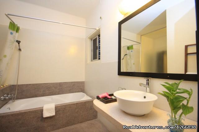 Bathroom (#3 of 10) - Frangipani Villa-60s Hotel