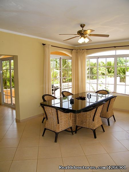 Villa Dining area - Caribbean Luxury For Less - Quiet but Near all