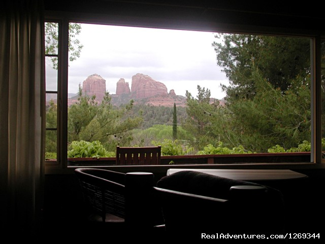 Great Views through the Picture Windows - Cathedral Rock Lodge & Retreat Center