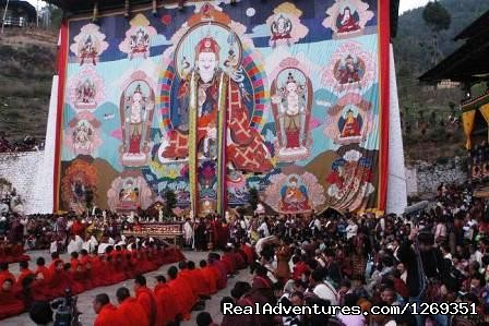 Celebration and the the Great Thangka (#1 of 3) - Bhutan & The Paro Festival Tour - 2013