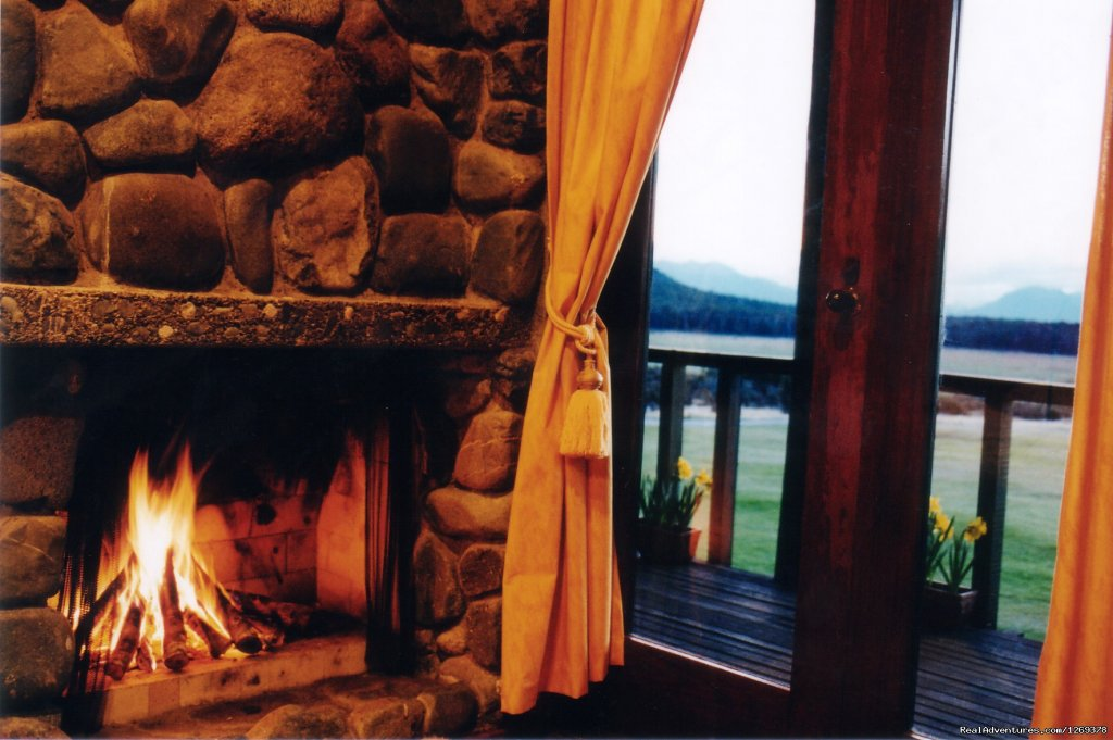 Log Fire in the Traditional Chalets | Image #2/11 | Exclusive Rental Luxury Lodge & Retreat