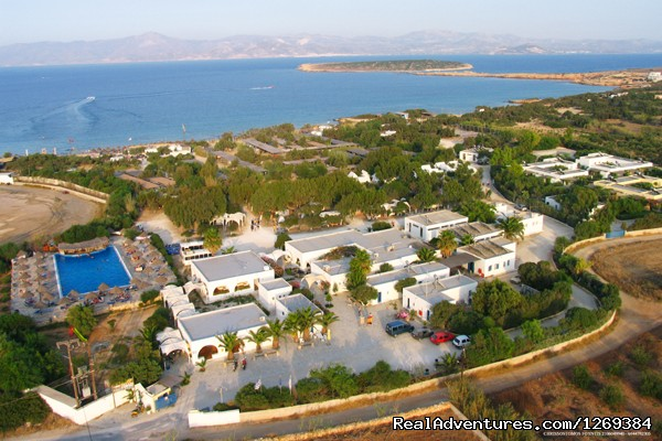 Water sports and fun at beach campsite in Paros Campgrounds & RV Parks Paros, Greece