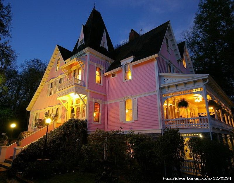 Bed and Breakfast in Asheville, NC. This Victorian Queen Anne house is on the historic register, is only a few blocks away from the Biltmore Estate, and features many conveniences and accommodations.