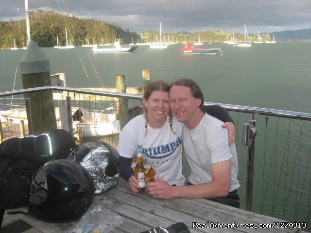 Happiness is riding together - Your own Motorbike Guided Tour in New Zealand