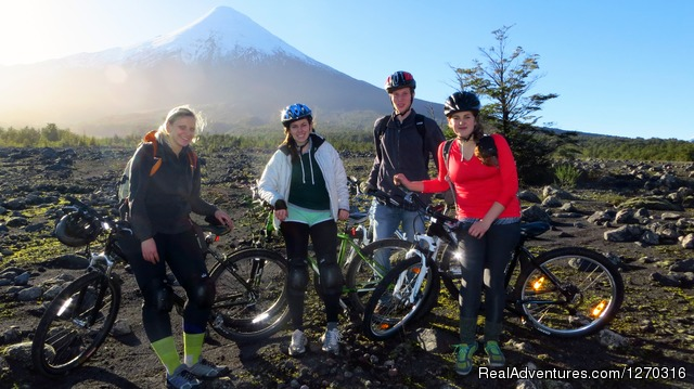 Montain biking in Vicente Perez Rosales park, Lakes district - want to discover en enjoy south of Chile? welcome