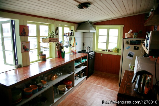 Hostal Casa Margouya Kitchen. Puerto Varas - want to discover en enjoy south of Chile? welcome