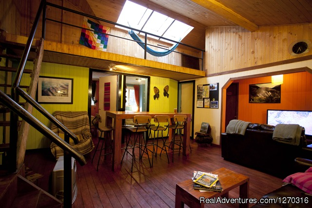Hostal Casa Margouya saloon. Puerto Varas - want to discover en enjoy south of Chile? welcome