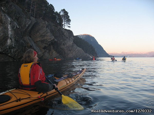 Mountainous fjords - Sea Kayaking in the top of Fjord Norway