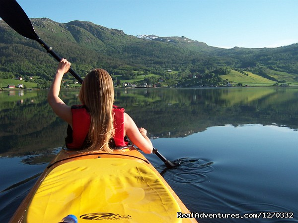 Sea Kayaking in the top of Fjord Norway