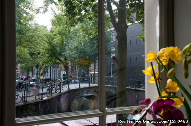 'Canal View' apartment view indeed. - Amsterdam Canal Apartments