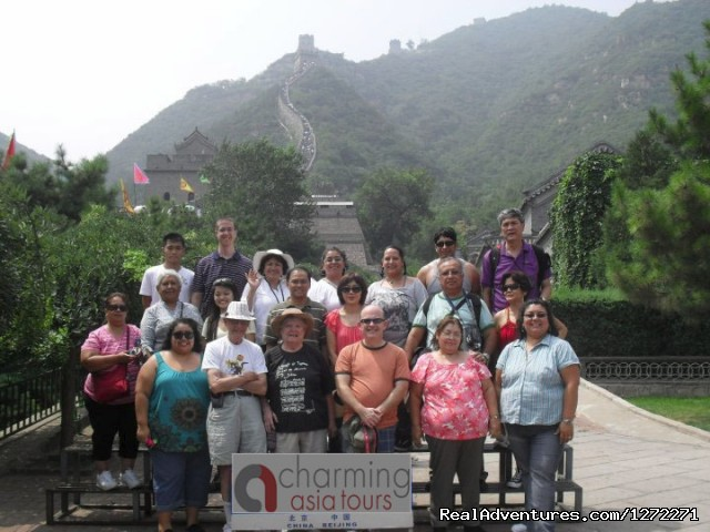 Small group at the Great Wall of China (#3 of 7) - China Discovery Tour