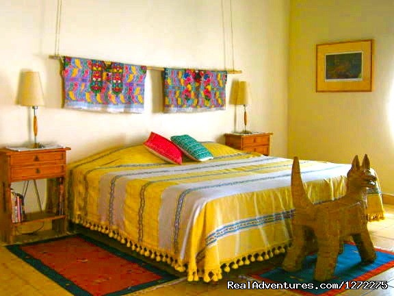 Spacious, comfortable guest rooms - Oaxaca Adventure Stay
