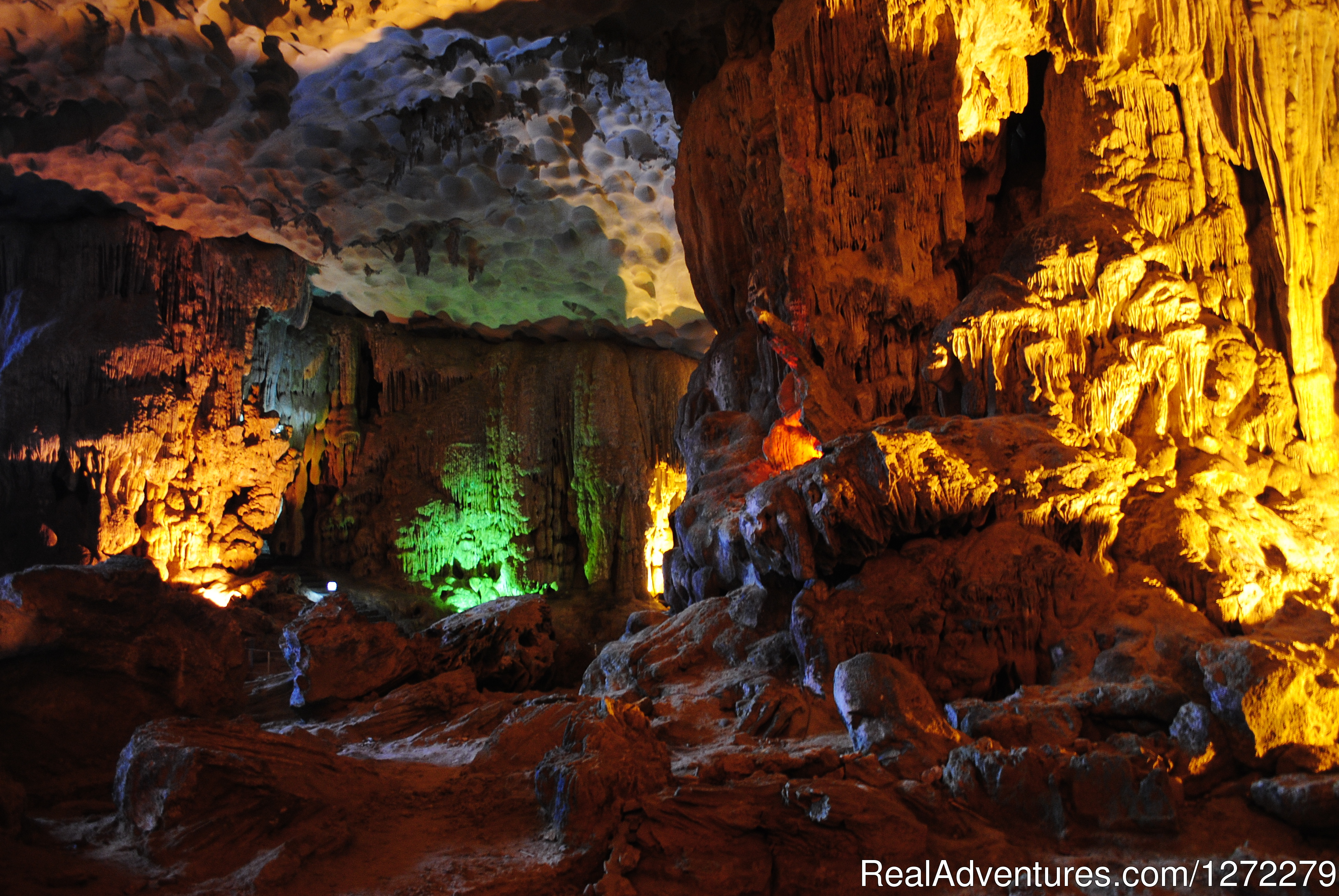 Halong bay of Vietnam-Sung Sot Cave