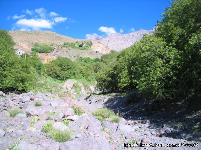 Imlil River In Atlas Mountains - Trekking In Atlas Mountains