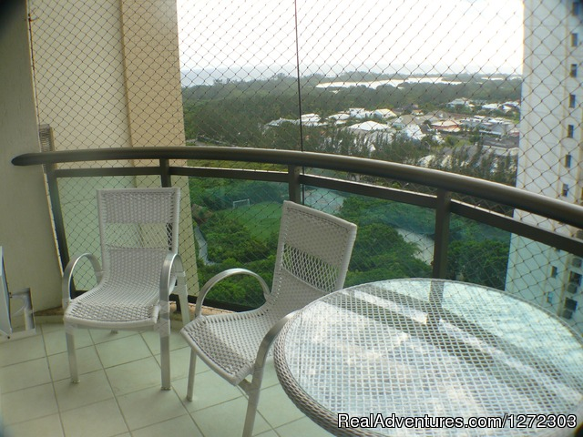 Verandah view with chairs and hamock - Barra  Dolce Vita Residence Service 1504