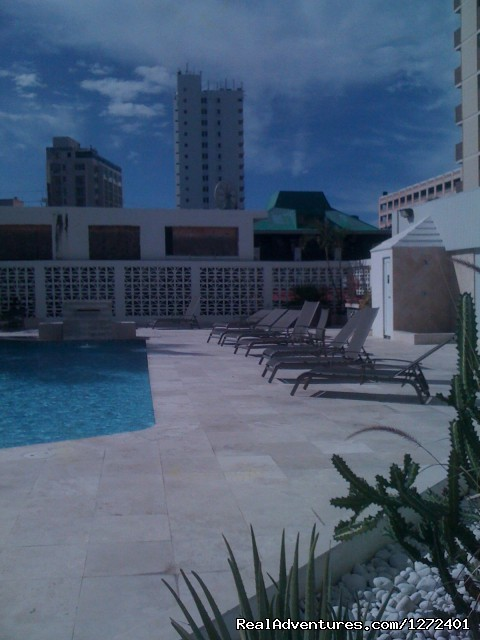 Pool Area - Studio Apt. In Condado on Ashford Ave  Puerto Rico