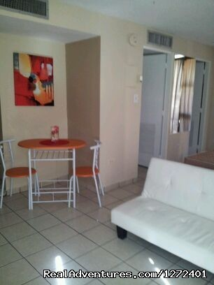 Dining/Living area - Studio Apt. In Condado on Ashford Ave  Puerto Rico