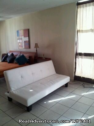 Sleeper Futon-Living area - Studio Apt. In Condado on Ashford Ave  Puerto Rico