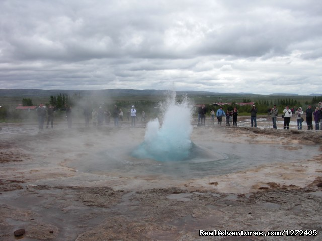 Geysir - The grandfather of all geysers - Cycling South Iceland - Freewheeling Adventures