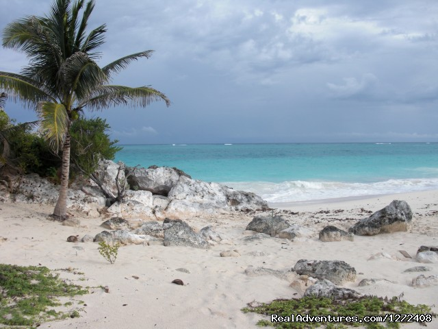 Beach beside the Tulum ruins - Mexico: Yucatan Multisport with Freewheeling