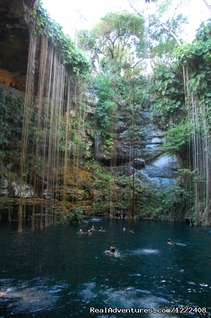 The Blue Cenote at Chichen-Itza - Mexico: Yucatan Multisport with Freewheeling
