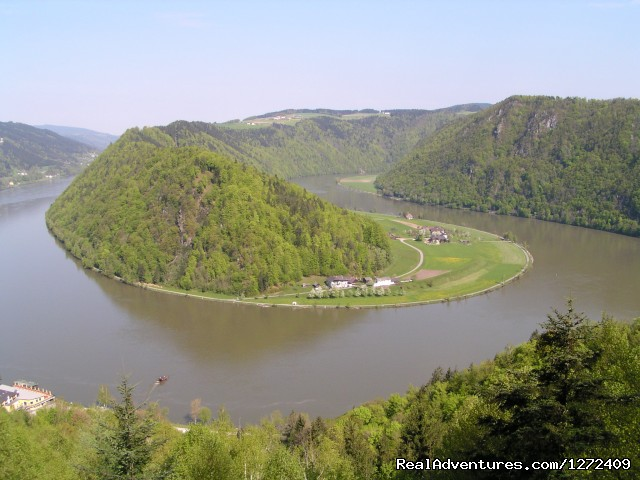 The lazy Danube sometimes switches back on itself (#2 of 6) - Austria: Passau to Vienna Bike - Freewheeling Adv.