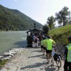 Austria: Passau to Vienna Bike - Freewheeling Adv. Small ferries crossing the Danube River
