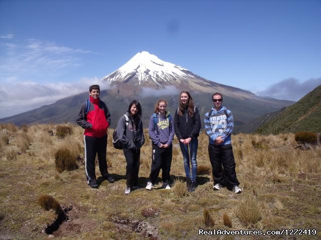 Mt Taranaki from Pouakai Plateau - Mt Taranaki Guided Tours