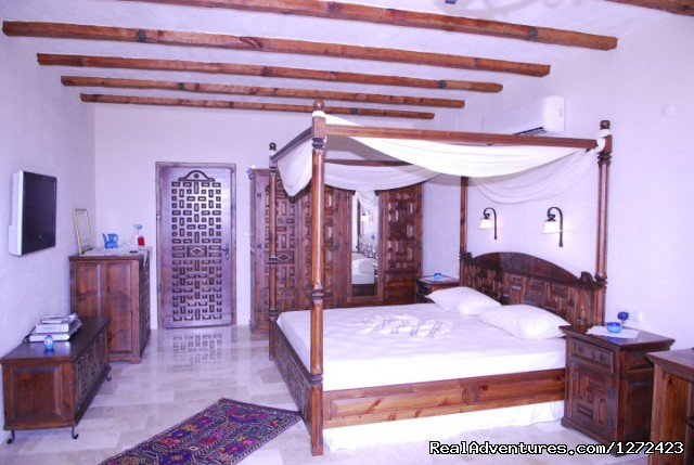 One of the bedrooms at Mandarin Boutique Hotel - Luxurious Boutique Hotel in Turkey