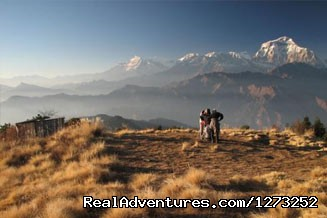 View of Annapurna Range from Ghorepani Poon Hill - Explore Nepal