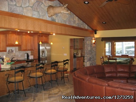 Luxury family room and open kitchen - Luxury ski house right on the slopes