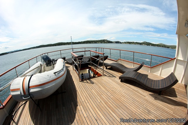 Sun deck (#1 of 8) - luxury yacht charter in Croatia