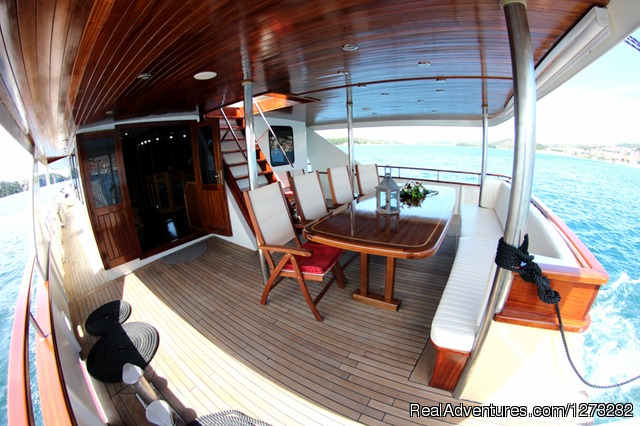 Stern deck - luxury yacht charter in Croatia