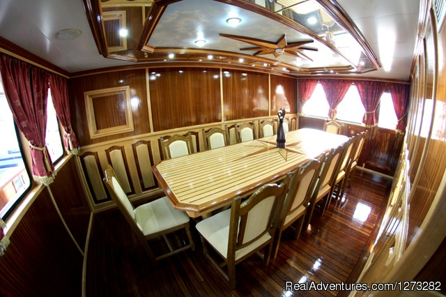 Dining room (#6 of 8) - luxury yacht charter in Croatia
