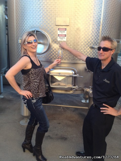 Tank tasting with our host - Temecula's Ultimate Wine Tasting Tours