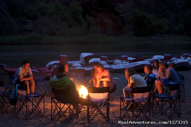 Campfire - Cataract Canyon Whitewater Rafting