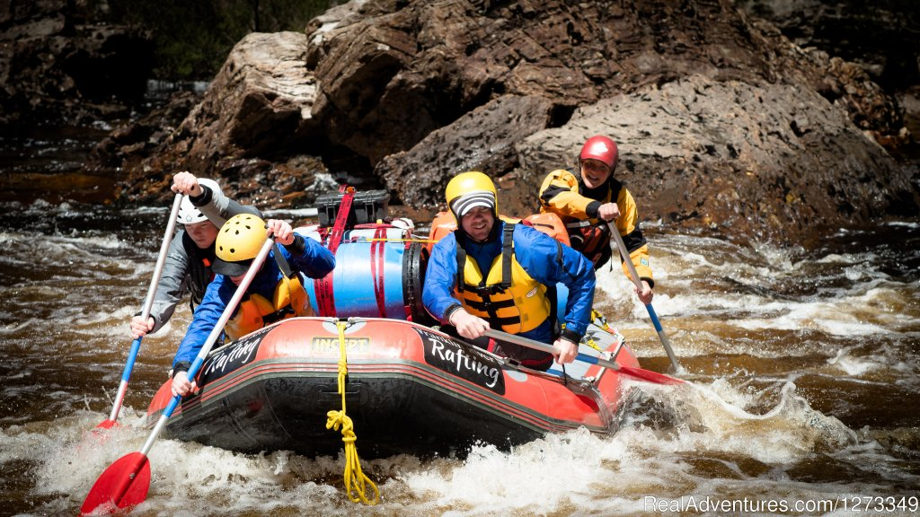 White water rafting on the Franklin River