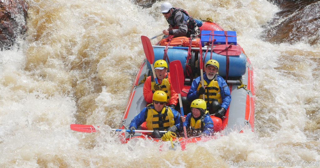 White water rafting excitement on the Franklin River