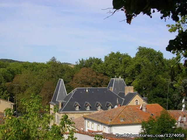 Roof from  Jardin de la Vierge - Chateau de Saint Michel de Lanes