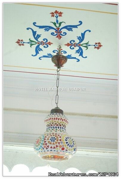 Paintings On the wall & Roof (#5 of 11) - Lake View Hotels In Udaipur,Budget hotels Udaipur