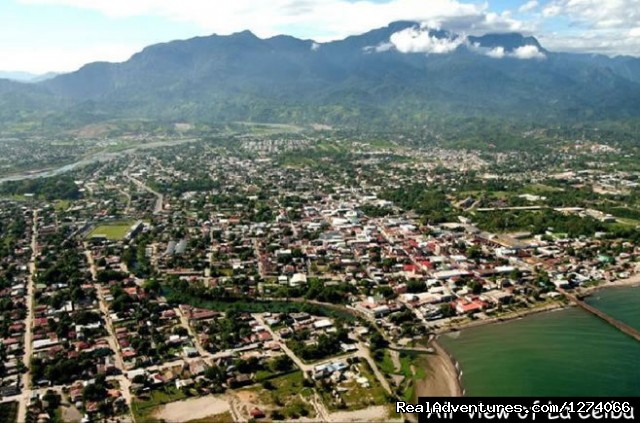 Air View of La Ceiba, Honduras - Spanish Language School and Volunteer in Honduras