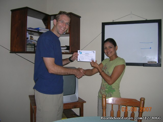 At graduation - Spanish Language School and Volunteer in Honduras