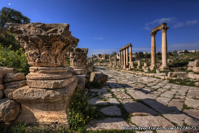 The Roman Road in Jerash (#2 of 6) - Travel in Jordan