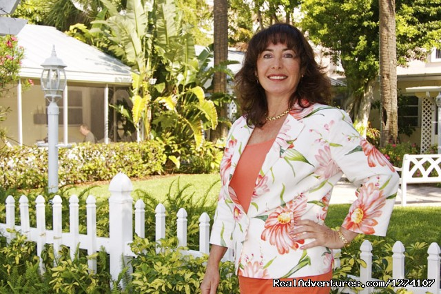 Owner Elaine Fitzgerald welcomes you - Cottages by the Ocean - South Florida getaway